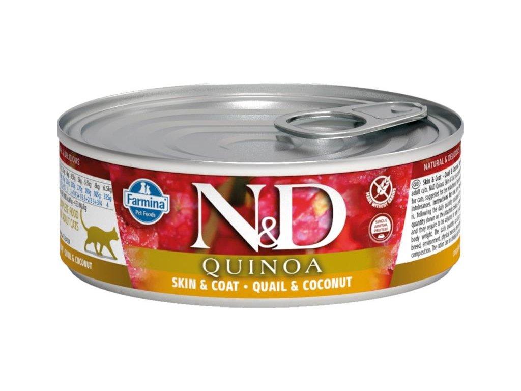 nd cat konzerva quinoa křepelka kokos 80g