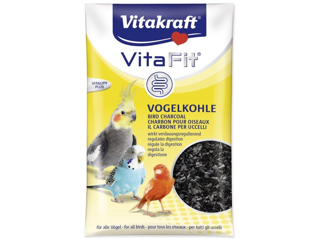 dřevěné uhlí pro andulky a papušky