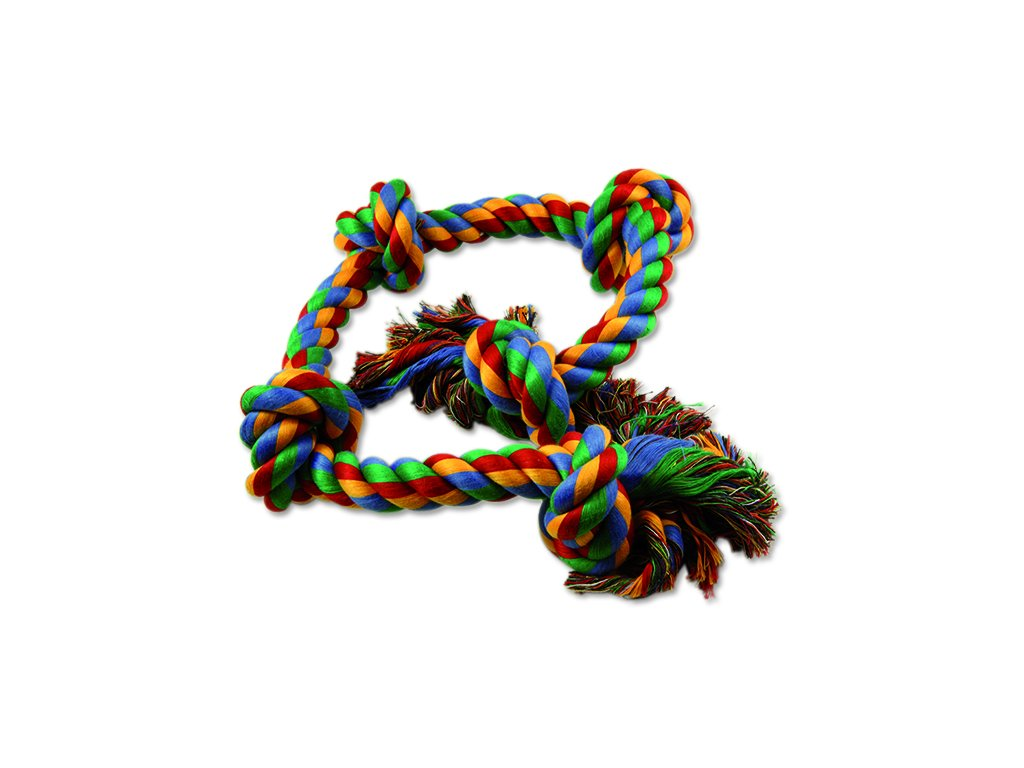 Uzel DOG FANTASY bavlněný barevný 5 knotů 95 cm