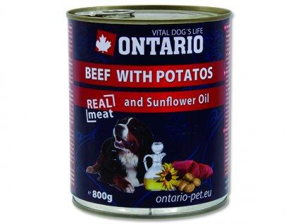 ONTARIO konzerva beef, potatos, sunflower oil 800g