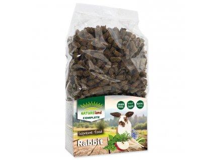 NATURE LAND Complete pro králíky a zakrslé králíky MONO 900 g