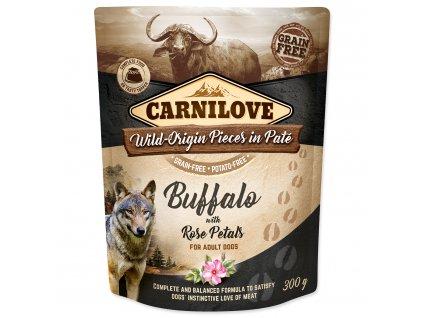 CARNILOVE Dog Paté Buffalo with Rose Petals 300g
