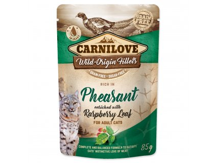 CARNILOVE Cat Rich in Pheasant enriched with Raspberry Leaf 85g