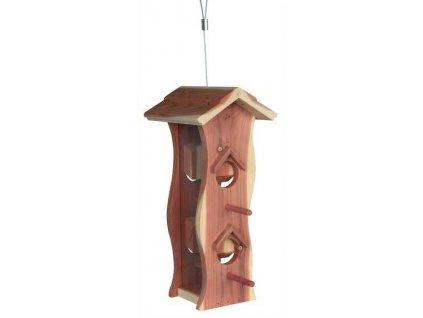 venkovní krmítko z cedrového dřeva