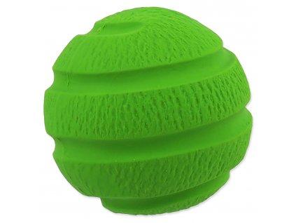Hračka DOG FANTASY Latex Míč vroubkovaný zelený se zvukem 7,5 cm