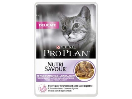 Pro Plan Cat kapsička Delicate Turkey 85 g