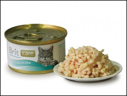BRIT Care konzerva Kitten Chicken 80g