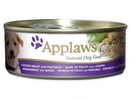 Applaws konzerva Dog 156g kuře a zelenina
