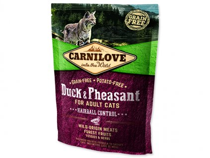 CARNILOVE Duck and Pheasant adult cats Hairball Control 400 g