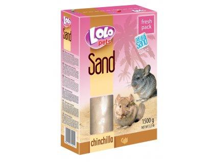 písek pro činčily 1,5 kg lolo
