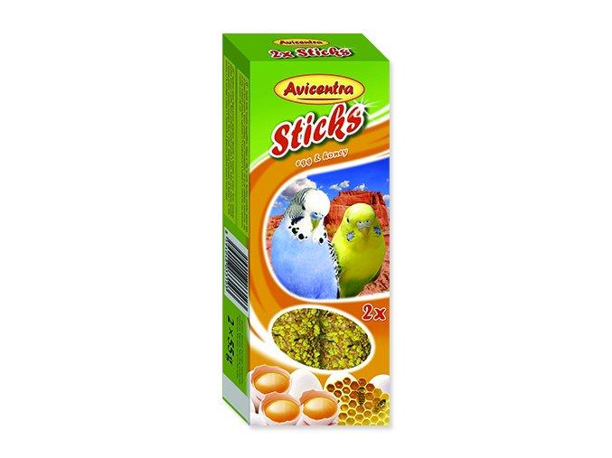 Tyčinky AVICENTRA s vejci s medem pro andulky 2 ks