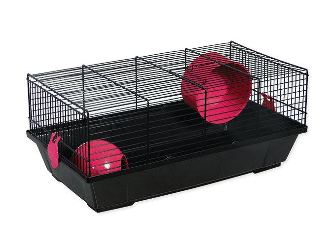 Klec SMALL ANIMALS Viktor černá s červenou výbavou 50,5 cm