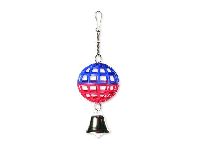 Hračka TRIXIE míč mřížkovaný s řetízkem a zvonkem