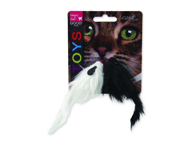 Hračka MAGIC CAT myš plyšová chrastící 11 cm 2 ks