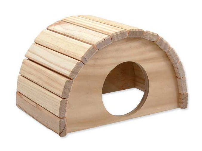 Domek SMALL ANIMAL Půlkruh dřevěný 24 x 17 x 15 cm