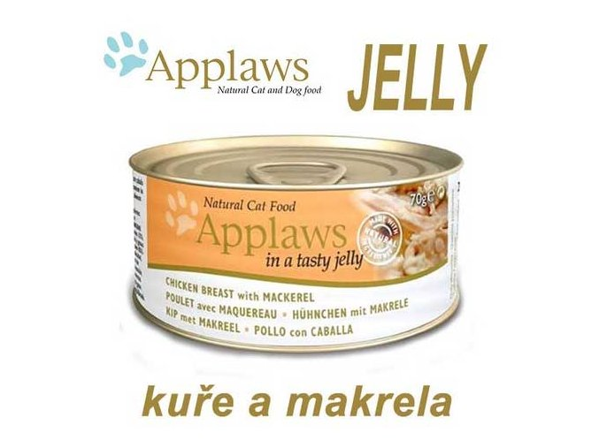Applaws konzerva Cat Jelly kuře a makrela 70 g
