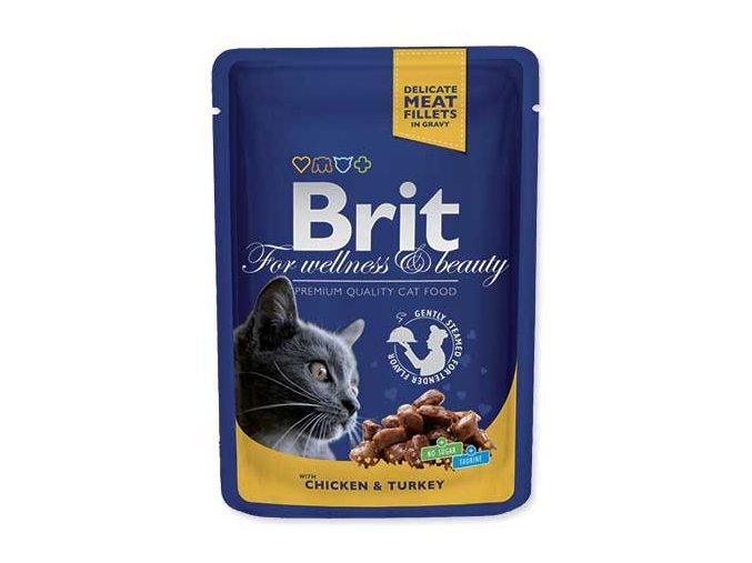 BRIT Premium Cat kapsička Chicken & Turkey 100 g