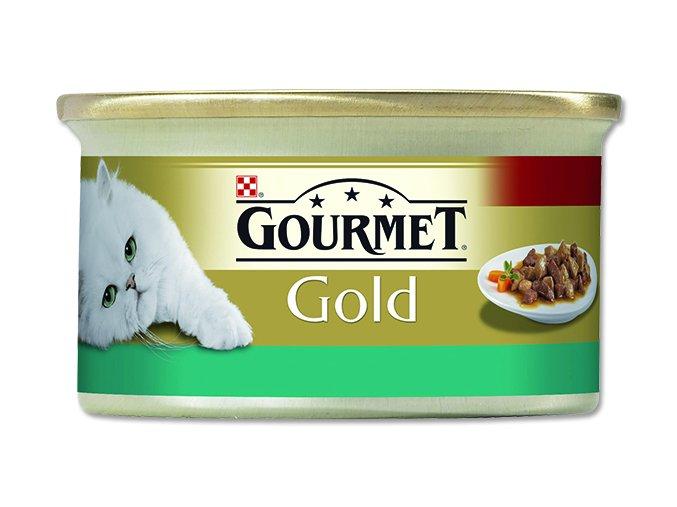 GOURMET Gold konzerva losos kuře 85g kousky