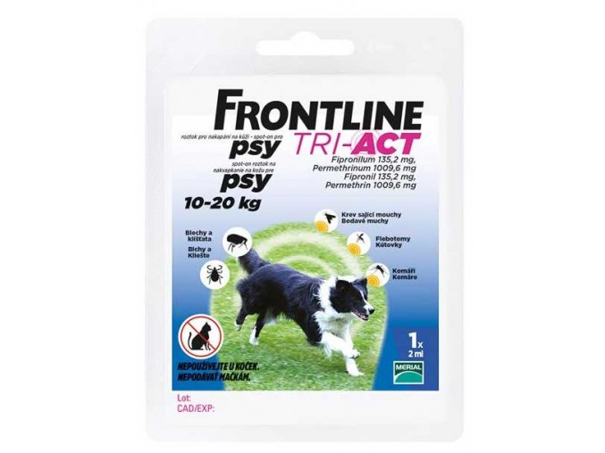 Frontline TRI-ACT spot on dog M 1x2ml