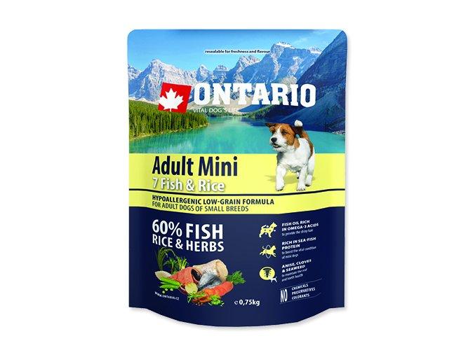 ONTARIO Adult Mini Fish & Rice 0,75 kg