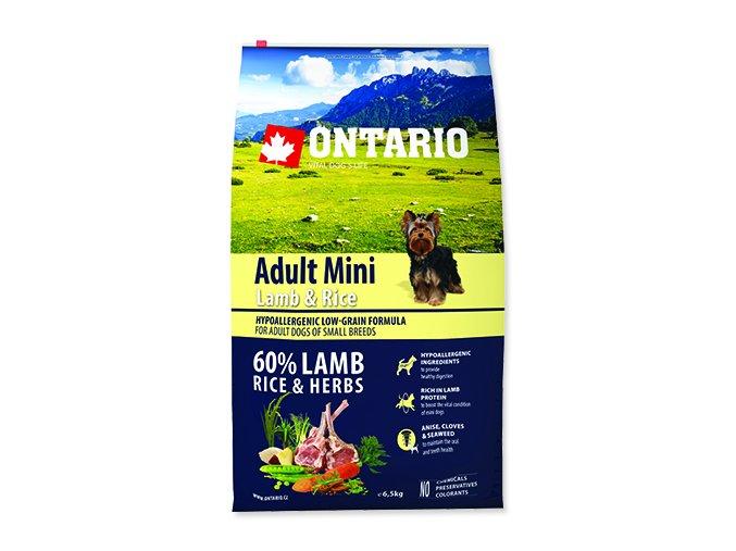 ONTARIO Adult Mini Lamb & Rice 6,5 kg