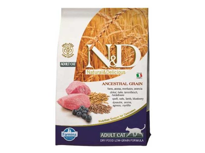 N&D Low Grain Cat Adult Lamb & Blueberry 10 kg