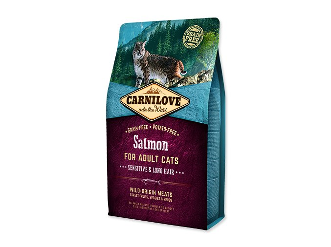 Carnilove Salmon Adult Cats – Sensitive and Long Hair 2kg