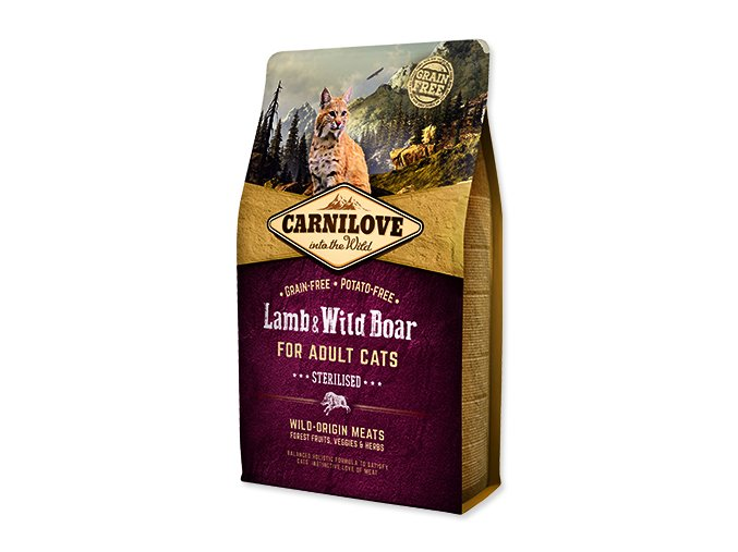 CARNILOVE Lamb and Wild Boar adult cats Sterilised 2 kg