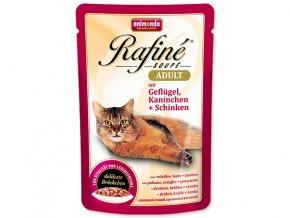 Kapsička ANIMONDA Rafine soupe drůbeží + králík + šunka 100 g