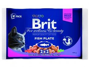 BRIT Premium cat Kapsička fish plate 400 g