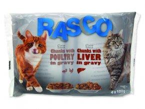RASCO Cat Kapsička Multipack s drůbeží /s játry 4 x 100g
