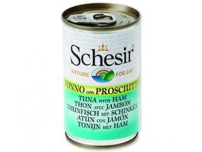 Schesir konzerva Cat tuňák + šunka 140g