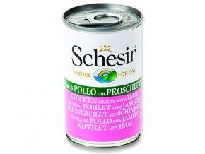 Schesir konzerva Cat kuřecí + šunka 140g