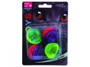 Hračka MAGIC CAT míček lesklý plastový chrastící 3,75 cm 4 ks