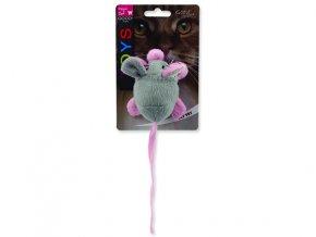 Hračka MAGIC CAT myška chrastící s catnipem mix barev 22,5 cm
