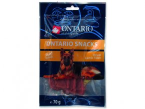 Snack ONTARIO Dog Dry Lamb Fillet 70g