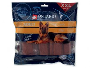Snack ONTARIO Dog Dry Lamb Fillet 500g