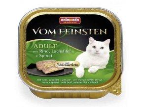 Paštika ANIMONDA Vom Feinsten CORE hovězí, losos filet + špenát 100 g