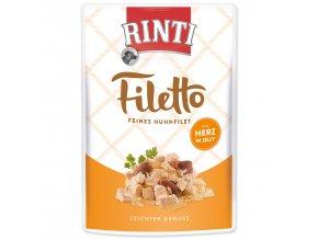 Kapsička RINTI Filetto kuře + kuřecí srdce v želé 100g
