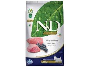 N&D PRIME Dog Grain Free Adult Mini Lamb & Blueberry
