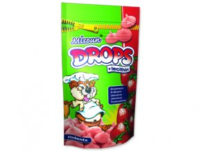 Mlsoun Drops jahodové 75g