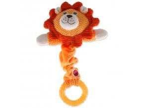 Hračka LET`S PLAY Junior lev oranžový 30 cm
