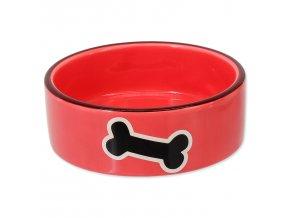 Miska DOG FANTASY keramická potisk kost červená 12,5 cm0,29l