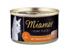 Konzerva MIAMOR Feine Filets tuňák + křepelčí vejce v želé 100g