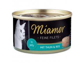 Konzerva MIAMOR Feine Filets tuňák + rýže v želé 100g