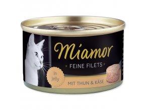 Konzerva MIAMOR Feine Filets tuňák + sýr v želé100g