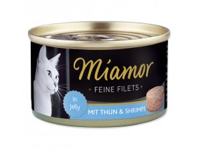 Konzerva MIAMOR Feine Filets tuňák + krevety v želé 100g