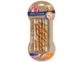 Tyčinka kroucená 8in1 žvýkací Triple Flavour