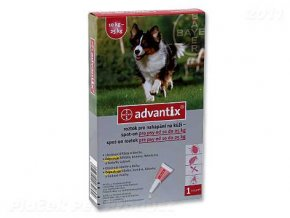 BAYER Advantix Spot-On pro psy 10 - 25 kg (2,5ml)