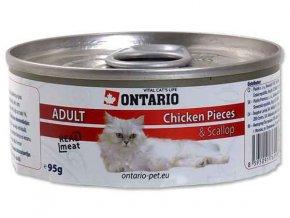 ONTARIO konzerva Chicken Pieces + Scallop 95g